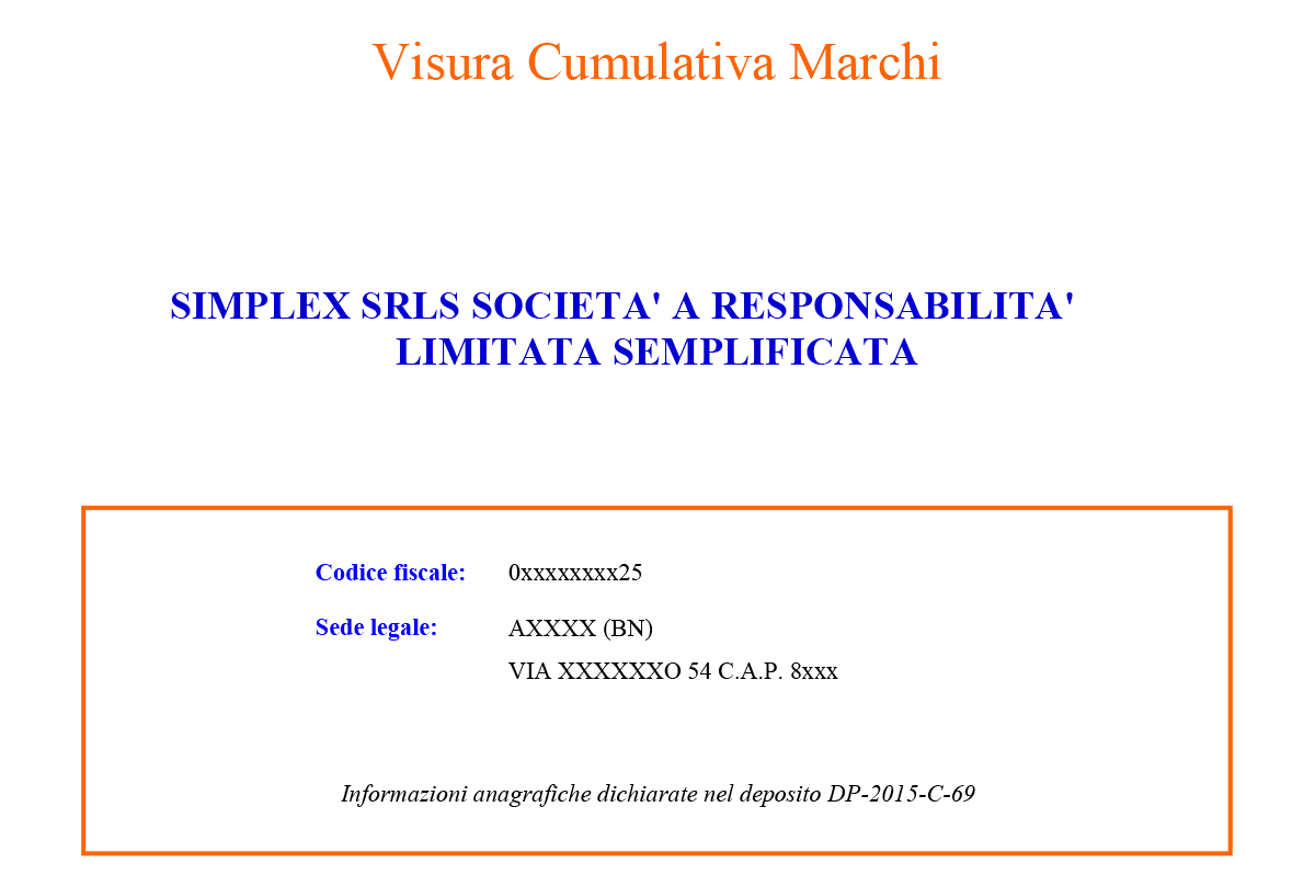 Visura marchi e brevetti agsimplex - Diritto di abitazione su immobile in comproprieta ...