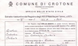Certificato Estratto di Nascita