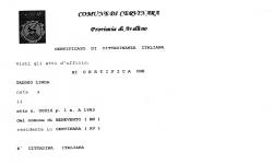 Certificato di Cittadinanza