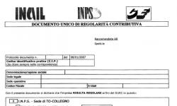 Richiesta Durc - INPS