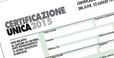 Certificazione CUD Pensionati